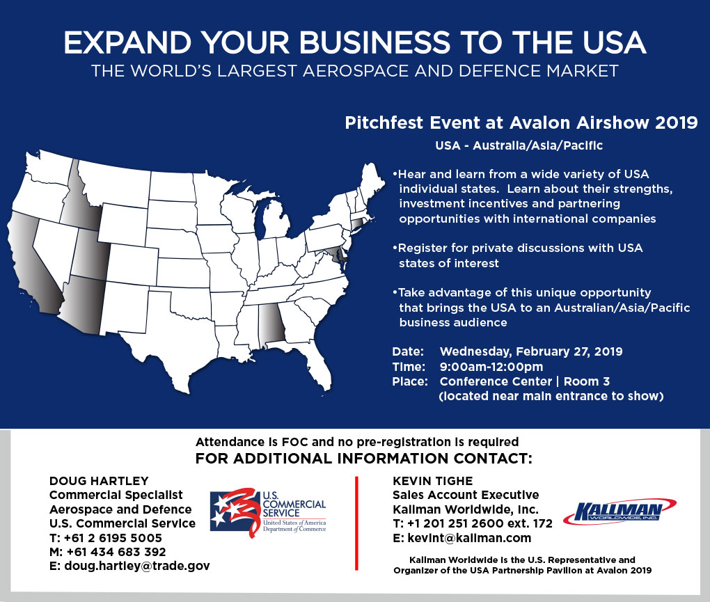 Expand your business to the USA... the world's largest Aerospace and defence market.